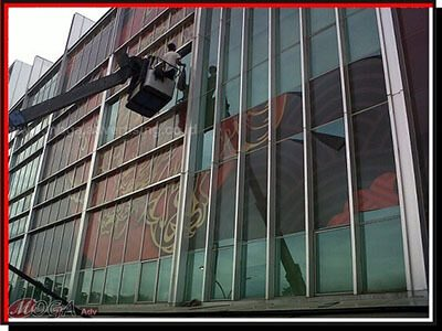 Branding kaca gedung PIK 5