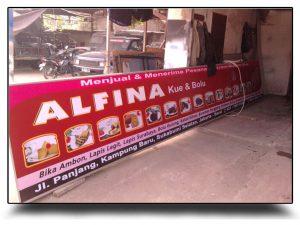 spanduk papan nama alfina